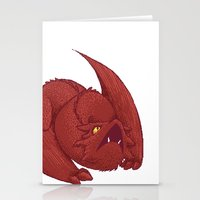 smaug Stationery Cards featuring Baby Smaug - Textless by Kinsei