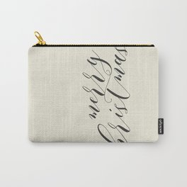 Merry Christmas Typo  #society6 #decor #buyart Carry-All Pouch