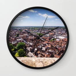 View of York from York Minster Cathedral tower Wall Clock