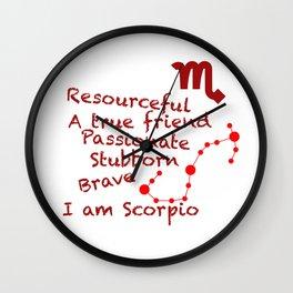 Zodiac Sign Scorpio Wall Clock