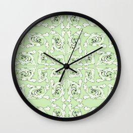 Tribal Green Abstract Wall Clock