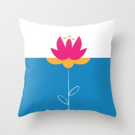FlowerPower Throw Pillow