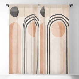 Geometric Abstract 96 Blackout Curtain