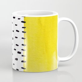 Yellow and black spotted pattern Coffee Mug