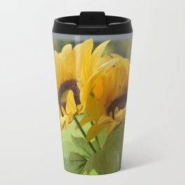 fake flowers Travel Mug