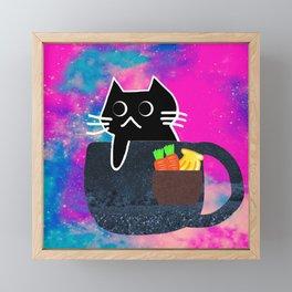 cat 417 Framed Mini Art Print