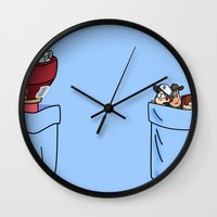 gravity falls Wall Clocks featuring a little of Gravity Falls by Helder