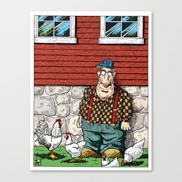 Walter: Portrait With Chickens Canvas Print