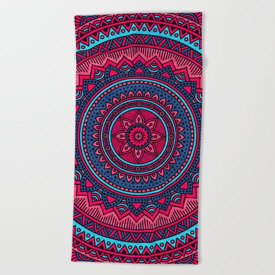 Hippie mandala 46 Beach Towel
