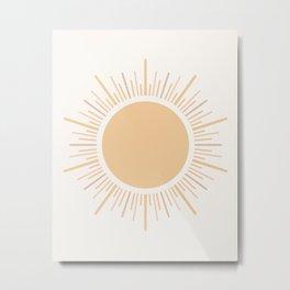Sun Boho Art Metal Print