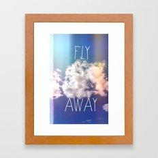 fly away in the sky Framed Art Print