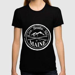 Live. Breathe. Ski. Maine T-shirt