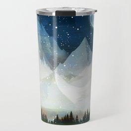 Mountain Lake Under the Starlight Travel Mug