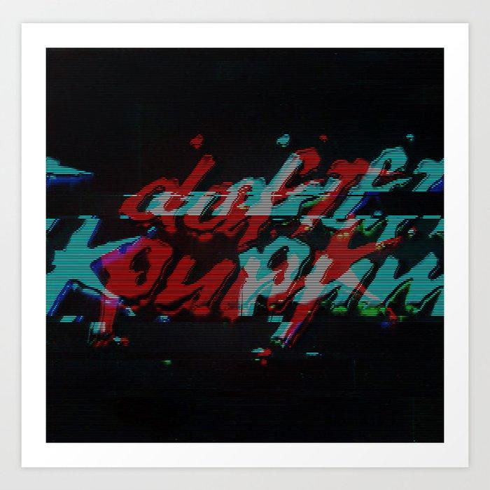 Daft Punk Glitch Art Print