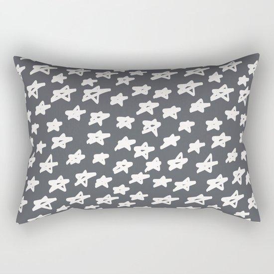 Stars on grey background Rectangular Pillow