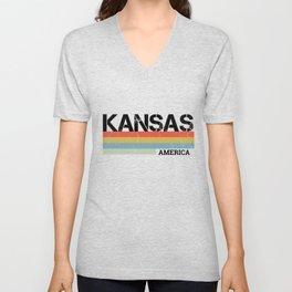 Kansas Design Gift & Souvenir For Kansas Print Unisex V-Neck