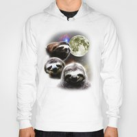 sloths Hoodies featuring Funny Space Sloths by robotface
