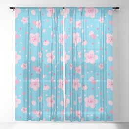 Sakura ~ spring pattern Sheer Curtain