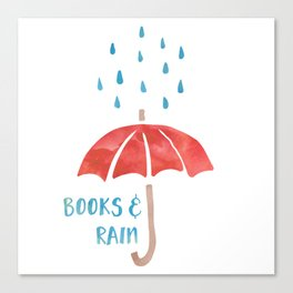 Books and Rain Canvas Print
