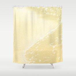Kapalua Beach sparkling golden sand and seafoam Maui Hawaii Shower Curtain