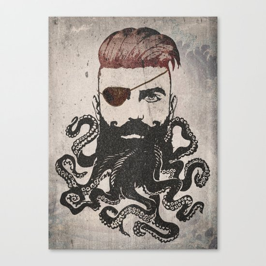 Black Beard Canvas Print