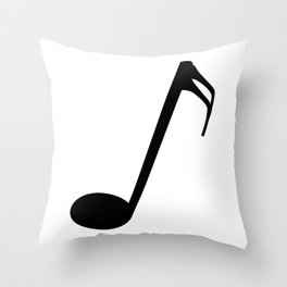 Sixteenth Of A Whole Musical Note Isolated Throw Pillow