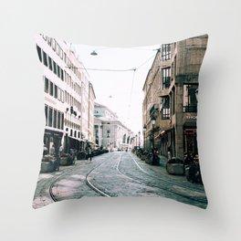 Derailed | Munich, Germany Throw Pillow