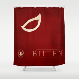 Bitten Shower Curtain