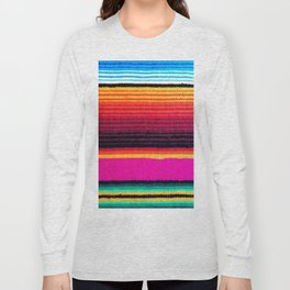 Magenta Sky Serape Long Sleeve T-shirt