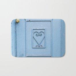 The Blue Heart Bath Mat