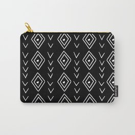 mudcloth 8 minimal textured black and white pattern home decor minimalist Carry-All Pouch