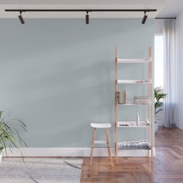 Meadow Mist Pastel Blue Solid Color Pairs W/ Behr's 2020 Forecast Trending Color Light Drizzle Wall Mural
