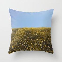 Mustard Flowers Throw Pillow