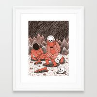 death Framed Art Prints featuring Death in Space by Jack Teagle