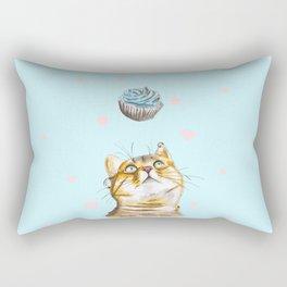 Cat Lover Cake Rectangular Pillow