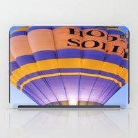 hot air balloon iPad Cases featuring Flaming Hot Air Balloon by Brian Raggatt