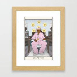 Queen of Pentacles - Missy Elliott Framed Art Print