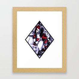 Harley Girl Framed Art Print