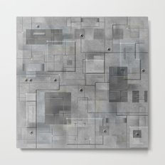 Industrial Tiles Metal Print