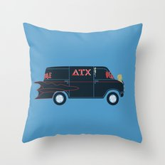 Deathmobile Van Throw Pillow