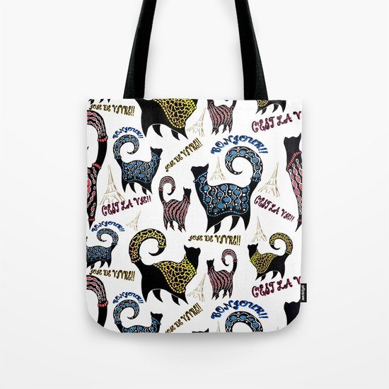 Le Snobby Cat Tote Bag