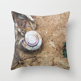 Stillife with snail Throw Pillow