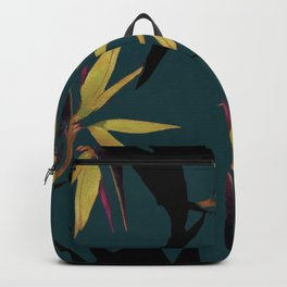 Fall print in forest green and mustard (also available in navy and blue) Backpack