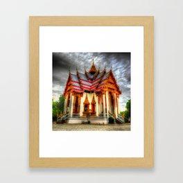Goth-esque Temple Thailand Framed Art Print