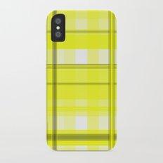 Yellow White and Gray Plaid iPhone X Slim Case