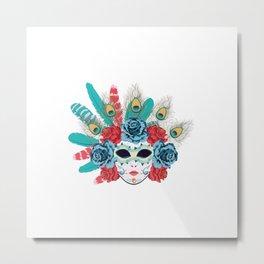 Carnival face mask Metal Print