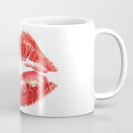 Beautiful Red Kiss Isolated Coffee Mug