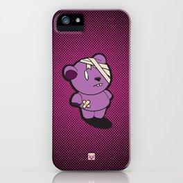Purple Dead Bear iPhone Case