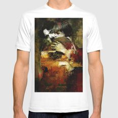 Charlie and the kid MEDIUM White Mens Fitted Tee