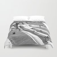 apollonia Duvet Covers featuring asc 614 - Le blues de janvier (HIM)  Second version by From Apollonia with Love